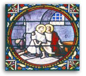 vitrail saint donatien saint rogatien