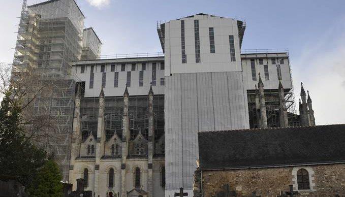 Travaux de restauration de la Basilique